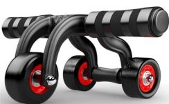 3 Wheeled Ab Roller Full Body Workout