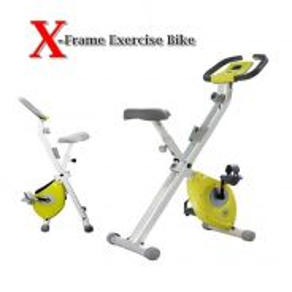 Green super x-frame exercise bike