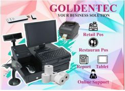 Pos system full installation cashier machine