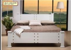 Queen size wooden bed frame .(M-CMF-371)26/09