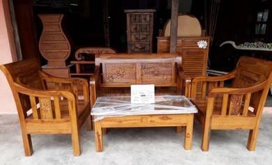 Perabot kayu jati set tamu minimalis