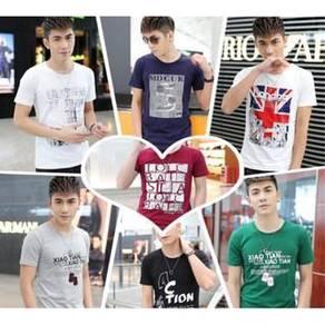 DAI148 Shirts Clothes Sports Baju Lelaki pakaian