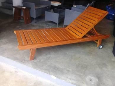 ST-01 Outdoor Wooden Lounger