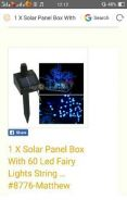 Solar Panel Box With 60Led Fairy Lights Strings