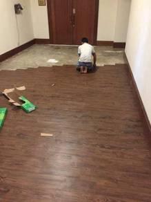 Vinyl Floor Lantai Timber Laminate PVC Floor q09