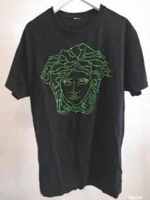 VERSACE green SWAROVSKI t shirt baju baru tshirt