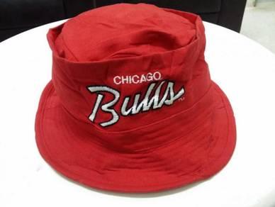 Topi Chicago Bulls bucket Hat round cap