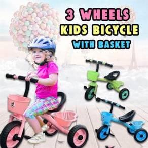 3 WHEEL KIDS BICYCLE WITH BASKET o