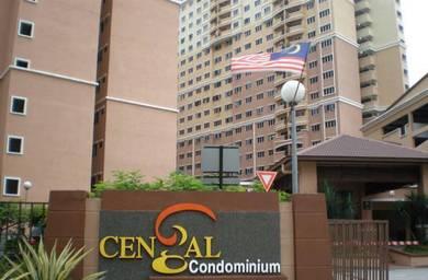 Cengal Condo Bandar Sri Permaisuri Cheras 927sf 3Rooms SEMI FURNISHED