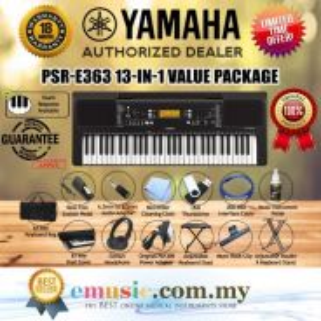 Yamaha PSRE363 61-key Keyboard Value Package