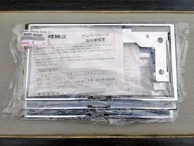 Toyota frame plate (black tag)