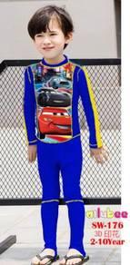 Baju renang swimsuit Long Sleeves SW176 CARS MCQUE