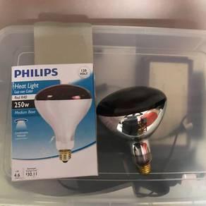 Philips Heat Lamp Bulb 250watt red