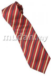 ER7 Red Black Yellow Striped Formal Neck Tie