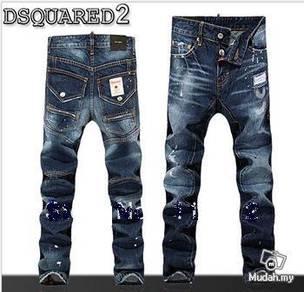 Ripped Skinny jeans pants D2 cotton denim