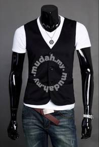 Slim Type Classic Vest Men Waist Coat (Black)