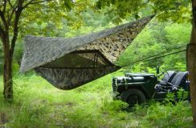 Army tent hammock khemah buaian askar celoreng d