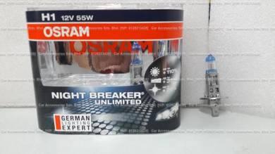 Osram night breaker unlimited 110%more light h1