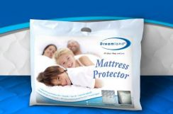 Dreamland Fitted Queen Mattress Protector