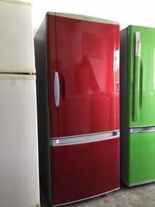 National Red 2doors fridge Peti Sejuk Ais