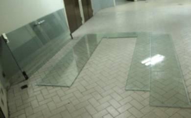 Tempered Glass Door 12mm (pintu kaca tempered)