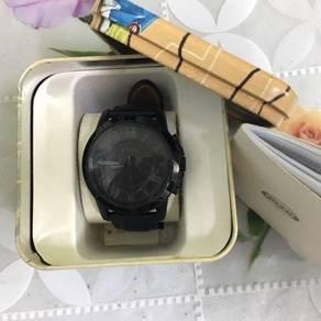 Fossil FS5132 Men Black Leather Watch