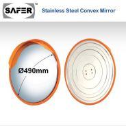 Stainless steel safer convex mirror 490mm