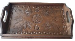 Small brown tray plate home decor serving dish
