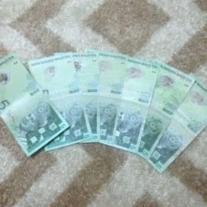 Duit lama RM 5 ( 7 pieces)