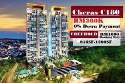 Cheras c180 new condo , 3bed 2carpark, rm 1000 settle free package