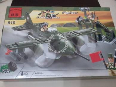 Bricks - Enlighten 810 Fighter Army building block