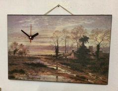 Vintage Painting with clock UK