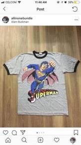 Vtg 90s superman ringer