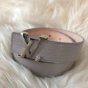 Louis Vuitton Epi Leather Ladies Belt SilverBuckle