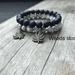 Bracelet batu hitam mati