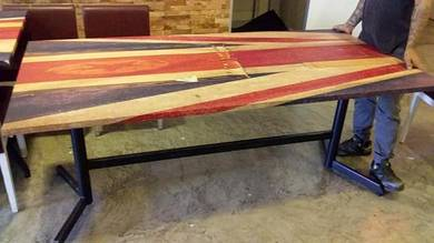 6FT Steel Leg England Style Table TK504