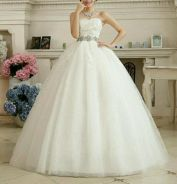 Wedding gown for pregnant bride ready stock