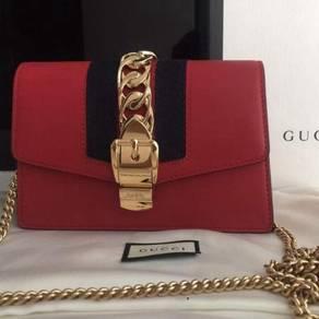 Brand New Gucci Mini Sylvie in Red