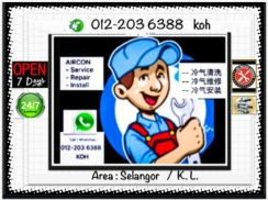 Aircond K.L/SEL Pro AIRCON - Pandan Indah dll