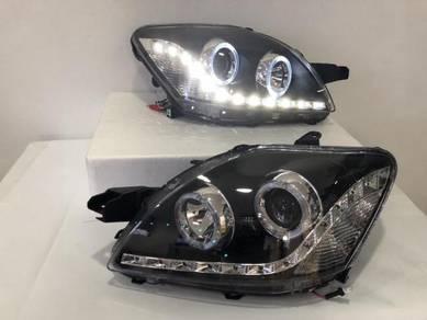 Toyota Vios 07-13 Projector Led Head lamp Black