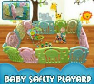 Colourful playard