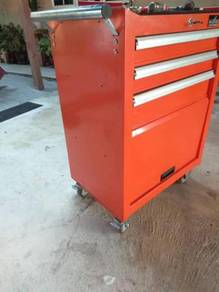 Mr. Mark 3 drawers toolbox and compressor