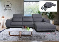 3 Seater L shape Sofa With Console And Two Storage