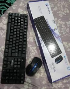 Keyboard mouse wireless swap keyboard rgb