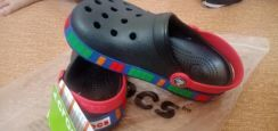 Crocs lego black