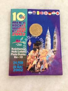 10th Men's Hockey Hoki Wold Cup Coin Card 2002