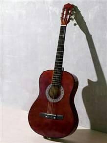 Guitar accoustic-brown