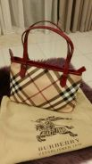 Original Burberry Raspberry Patent Leather Superno