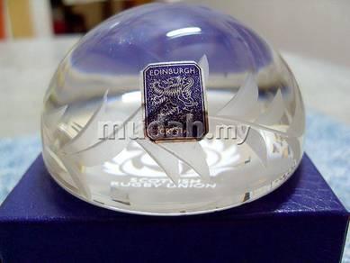 Scottish Rugby Union - Edinburgh Crystal - 450gms