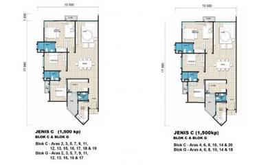 Bilik sewa single/share Presint 17 Apartment Selasih (Furnished)